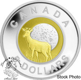 Canada: 2012 $5 Niobium Full Buck Moon Sterling Silver Coin