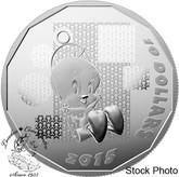"""Canada: 2015 $10 Fine Silver Coin - Looney Tunes """"I TAWT I TAW A PUTTY TAT!"""" TWEETY"""