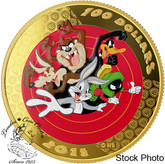 Canada: 2015 $100 14-Karat Gold Coin & Pocket Watch - Looney Tunes: Bugs Bunny And Friends