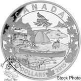 Canada: 2015 $10 Canoe Across Canada - Serene Scene Silver Coin