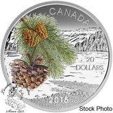Canada: 2015 $20 Forests of Canada - Coast Shore Pine Silver Coin