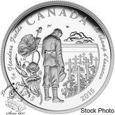 "Canada: 2015 $20 100th Anniversary of ""In Flanders Fields"" Silver Coin"