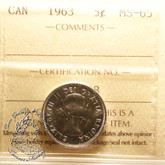 Canada: 1963 5 Cents ICCS MS65 Coin