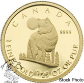 Canada: 2007 50 Cent Wolf 1/25 oz Gold Coin
