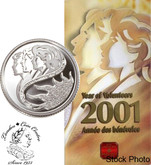 Canada: 2001 10 Cent Volunteer Sterling Silver Proof Coin in Folder