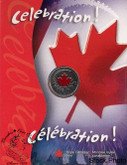 Canada: 2004 25 Cent Celebration Canada Day Coloured Coin in Folder