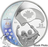 Canada: 2007 $25 Olympic Athlete's Pride Silver Hologram Coin