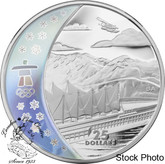 Canada: 2008 $25 Olympic Home of the 2010 Olympic Winter Games Silver Hologram Coin