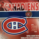 Canada: 2007 Montreal Canadiens Logo Coin Set with Coloured 25 Cent