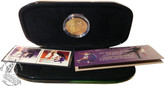Canada: 2001 World Figure Skating Championships Pairs Stamp and 24Kt. Gold-Plated Medallion Set