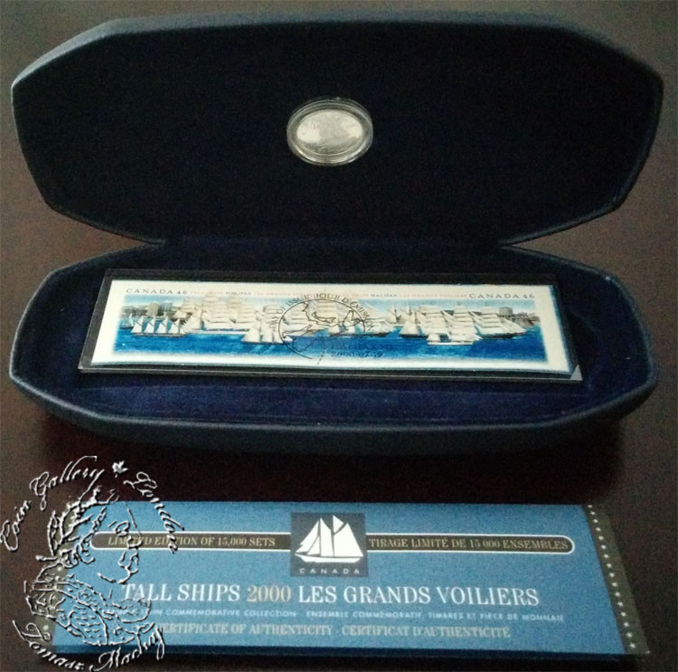 Canada 2000 10 Cent Tall Ships Coin And Stamp Set London Coin Centre Inc