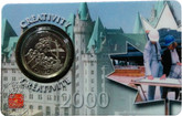 Canada: 2000 25 Cent October Creativity Coin and Collector Card