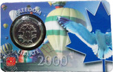 Canada: 2000 25 Cent November Freedom Coin and Collector Card