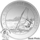 Canada: 2015 $10 Adventure Canada: Windsurfing Silver Coin