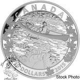 Canada: 2015 $10 Canoe Across Canada - Mirror, Mirror Silver Coin