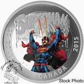 Canada: 2015 $20 Iconic Superman䋢 Comic Book Covers: Superman #28 Silver Coin