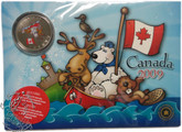Canada: 2009 25 Cent Canada Day Post Card Magnet and Coloured Coin Set