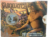 Canada: 2011 25 Cent Canadian Mythical Creatures - Sasquatch Coin