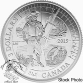 Canada: 2015 $3 400th Anniversary of Samuel de Champlain in Huronia Silver Coin