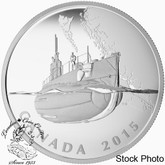 Canada: 2015 $20 Canada's First Submarines during the First World War Silver Coin
