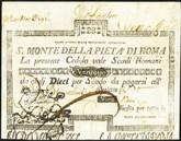 Italy: Papal States 1796 S. Monte Della Pieta' Di Roma 28 Scudi (1792)
