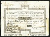 Italy: Papal States 1790 S. Monte Della Pieta' Di Roma 34 Scudi (1795)