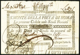Italy: Papal States 1797 S. Monte Della Pieta' Di Roma 90 Scudi (1798)