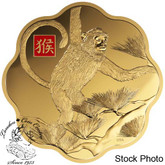 Canada: 2016 $2500 Lunar Lotus Year of the Monkey Kilo Gold Coin