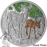 Canada: 2015 $20 Baby Animals: White-tailed Deer Silver Coin