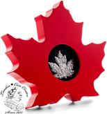 Canada: 2015 $20 Canadian Maple Leaf Silver Leaf Shaped Coin