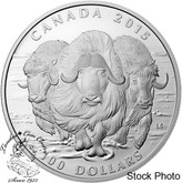 Canada: 2015 $100 for $100 Muskox Silver Coin