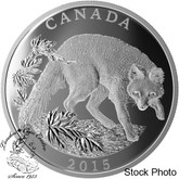 Canada: 2015 $100 Conservation Series: The Grey Fox Silver Coin