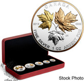 Canada: 2016 Fine Silver Maple Leaf Fractional Set: A Historic Reign