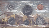Canada: 1975 Proof Like / Uncirculated Coin Set Attached Jewel Variety