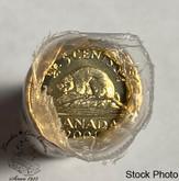 Canada: 2001 No P 5 Cent Original Roll (40 Coins)
