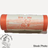 Canada: 2005 P Caribou 25 Cent Original Roll (40 Coins)