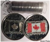 Canada: 2015 Flag 25 Cent Original Roll (40 Coins) Mixed Coloured & Non Coloured