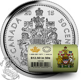 Canada: 2015 50 Cent Circulation Coin Roll Special Wrap (25 Coins)