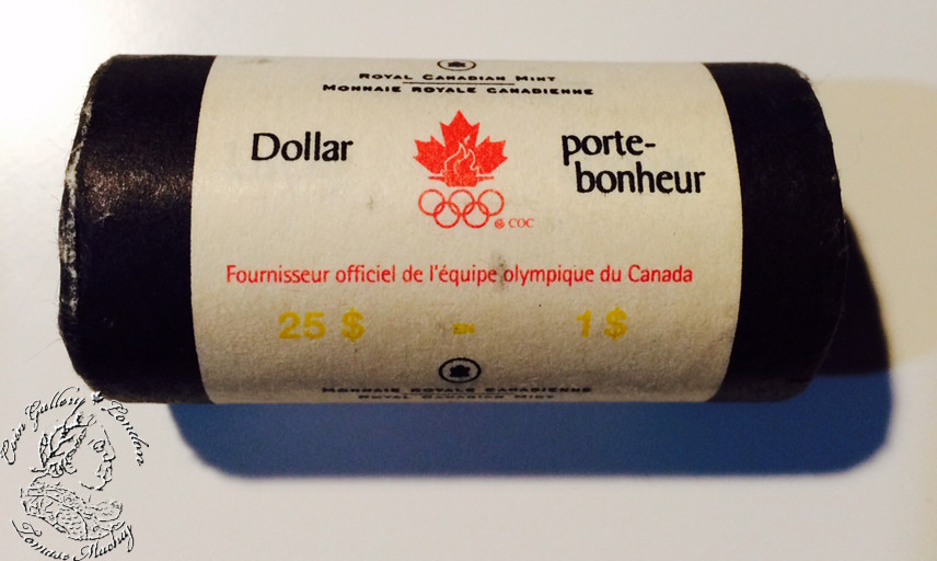 Containing 25 pieces 2004 Olympics Lucky Loonies Roll