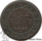 Canada: 1881H 1 Cent EF40