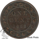 Canada: 1882H 1 Cent Obv #2 VG8