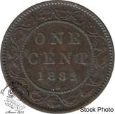 Canada: 1882H 1 Cent Obv #2 VF20