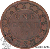 Canada: 1884 1 Cent Obv #2 VG8