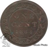 Canada: 1884 1 Cent Obv #2 VF20