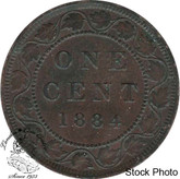 Canada: 1884 1 Cent Obv #2 EF40
