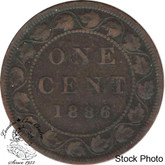 Canada: 1886 1 Cent Obv #2 VG8