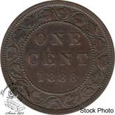 Canada: 1888 1 Cent AU50