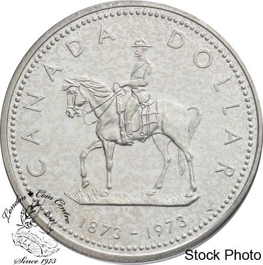 Canada 1973 RCMP Commemorative Specimen Silver Dollar!!