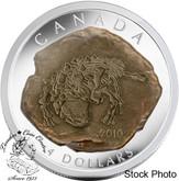 Canada: 2010 $4 Euoplocephalus Tutus Dinosaur Skeleton Pure Silver Coin