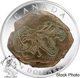 Canada: 2009 $4 Tyrannosaurus Rex Dinosaur Skeleton Pure Silver Coin